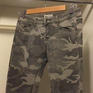 Army Print Roxy Jeans